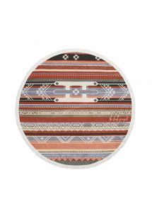 100% cotton round ethnic beach towel - THE BEDOUIN