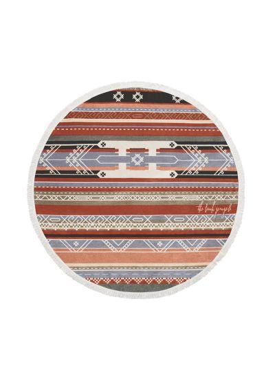 Etnisk rund strandhandduk, 100 % bomull - THE BEDOUIN