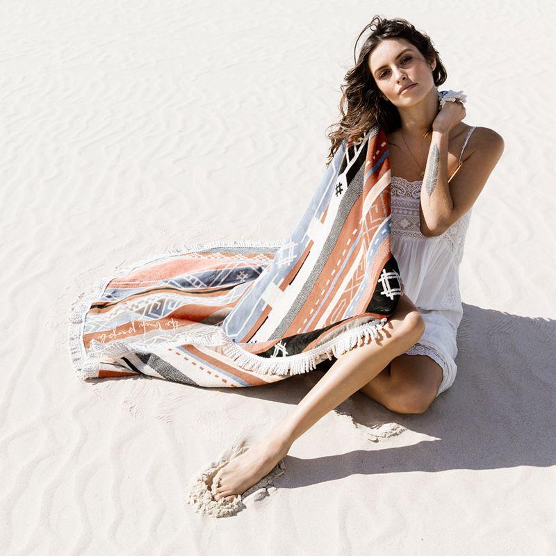 100% cotton round ethnic beach towel - THE BEDOUIN