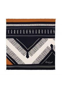 Пляжное полотенце этнического дизайна с бахромой - THE DREAMER
