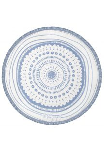Round, reversible blue and white towel - WATEGOS CHIC
