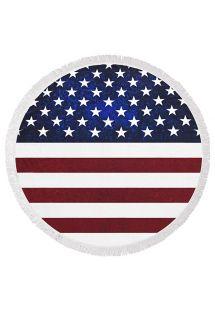 Gefranstes rundes Strandtuch mit USA-Flagge - AMERICAN DREAMER