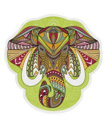 Elephant head-shaped beach towel - ELEFANTE
