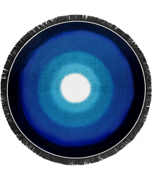 Round beach towel with shades of blue - LAGOON