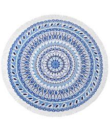 Blue mosaic round beach towel - VAGABOND