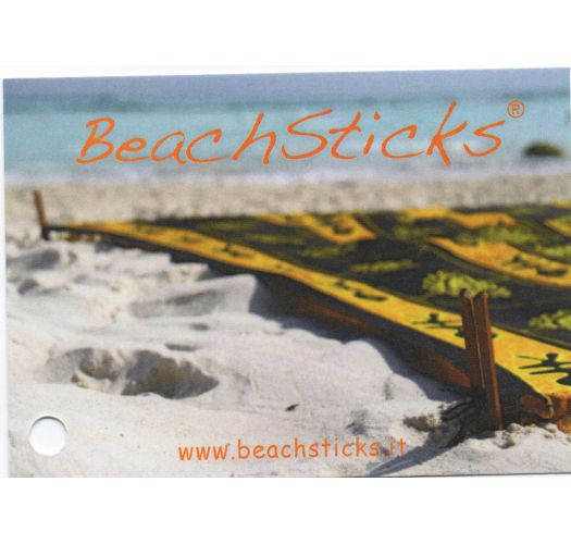 Set of 4 wooden fixing sticks for pareo - camouflage pouch - BEACH STICKS CAMO