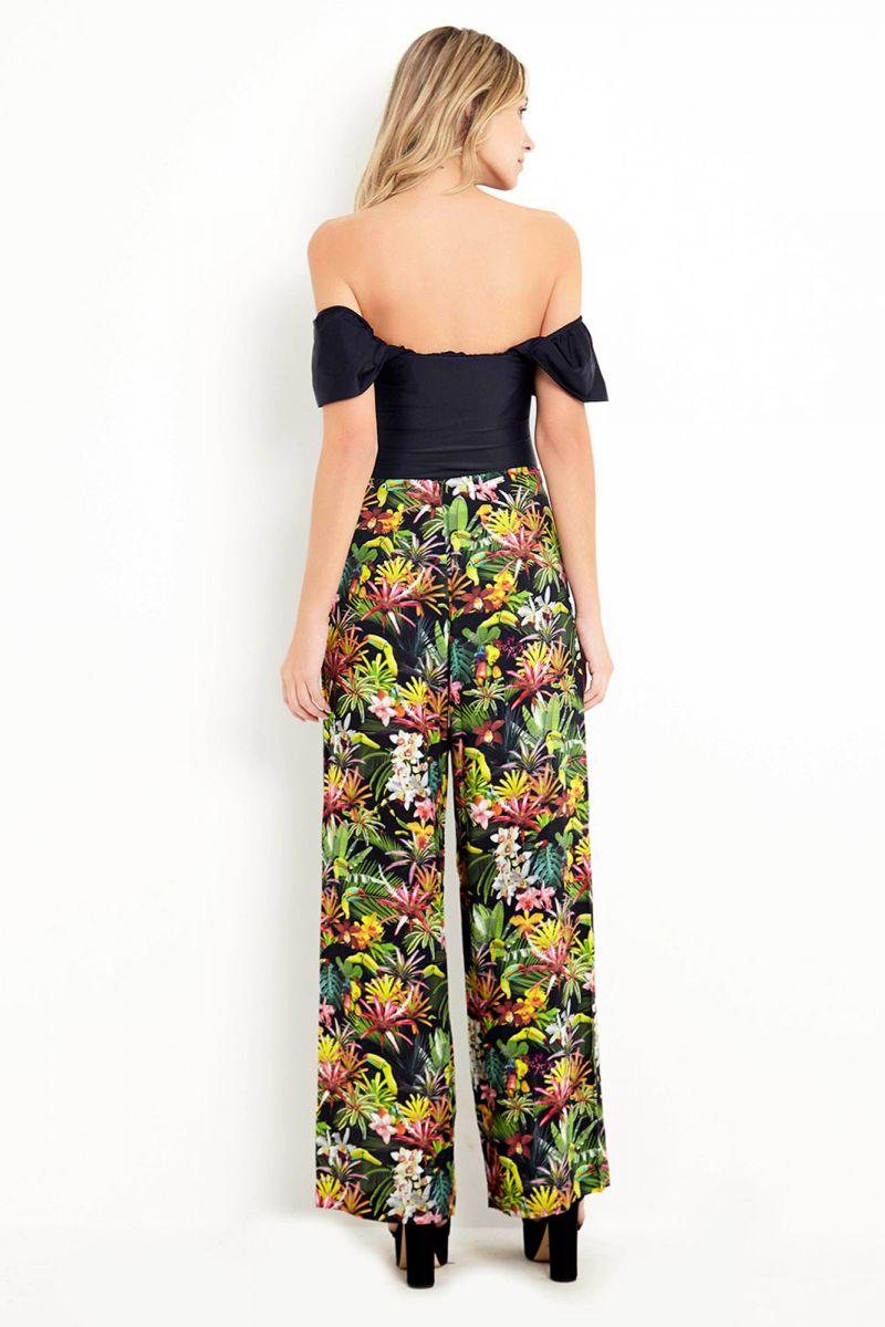 Tropical / floral light beach pants - ILHABELA