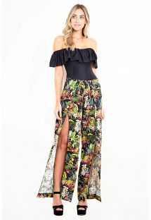 Tropical / floral light beach pants - ILHABELA