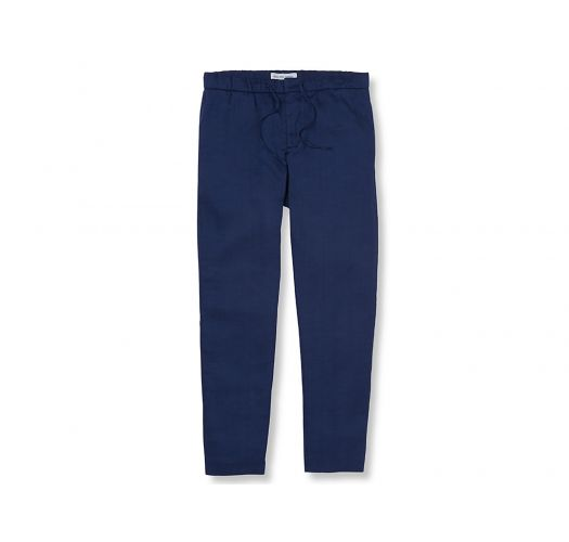 Chino type navy blue summer trousers  - CHINO SPORT BLOCK NAVY BLUE