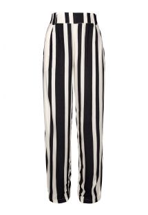Black and white striped beach trousers - ALFAIATARIA