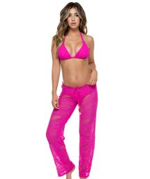 Pink lacy beach trousers - PANT CARNAVAL FUCHSIA