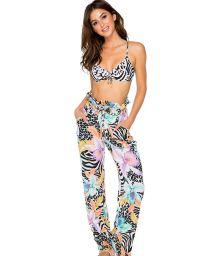 Colorful beach pants waist tied - PANTS BUENA VISTA