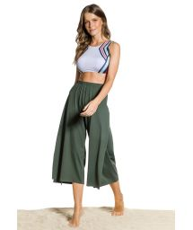 Khaki cropped beach pants - PANTACOURT KAKI