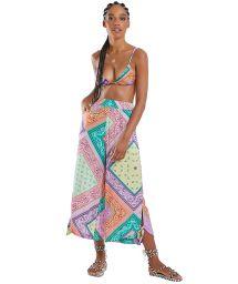 Jupe-culotte imprimé bandana multicolore - ELLE BANDANA PANTACOURT