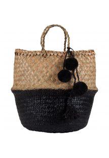 Большая черная соломенная сумка/корзинка - PANIER UBUD L BLACK