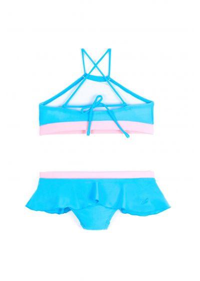Blå & rosa crop topp bikini - BONECA