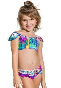 Dwuczęściowy strój kąpielowy dla dziewczynki w kolorowy wzór - GIRL FRUFRU ETNICO