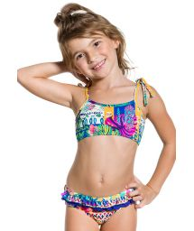 Ethnic two-piece swimsuit for girls with ruffle - PRAIA COLORIDA