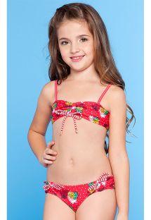 Rød bikini for jente - ABACAXI KIDS