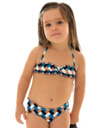 Colorful bikini bandeau for girl - GEOMETRIC KIDS