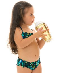 Black & blue bandeau bikini for girls - LUCE KIDS