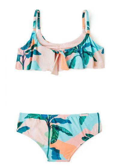 Раздельный купальник для девочек в пастельных тонах - BIQUINI BABADO BRISA