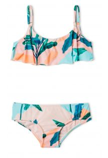 Gil's two-piece swimsuit  in tropical print - CAMISETA BABADO BRISA