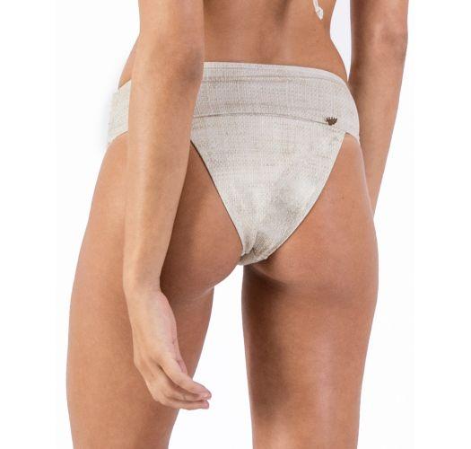 Bikinihose mit Leineneffekt und Lederdetails - BOTTOM ALONGADO LIGHT LINEN