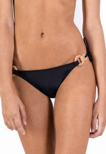 BOTTOM CORTININHA BLACK LEATHER