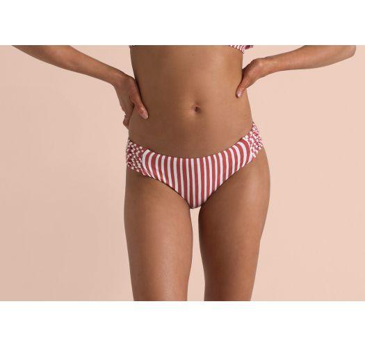 Rot/weißgestreifte Bikinihose, Strappy-Seiten - BOTTOM DOS PALMAS MAUI RIDE MULTI