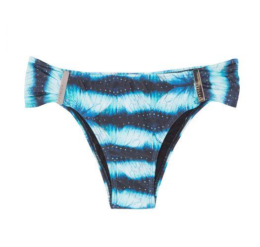 High cut swimsuit bottom in shades of blue - CALCINHA PRINCESA GALAXIA