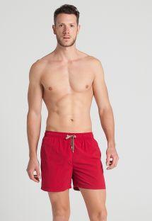 Men`s red beach shorts - CRIMSON