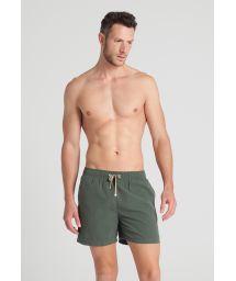 Men`s dark khaki swim suits - JUNGLE SHORT