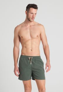 Short de bain homme kaki foncé  - JUNGLE SHORT