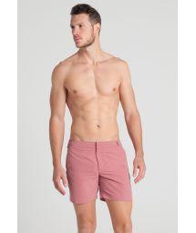 Men`s pink beach shorts - PINKPALE