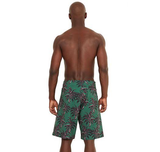 Costume da uomo verde stampa foglie di palme - MAXI COQUI