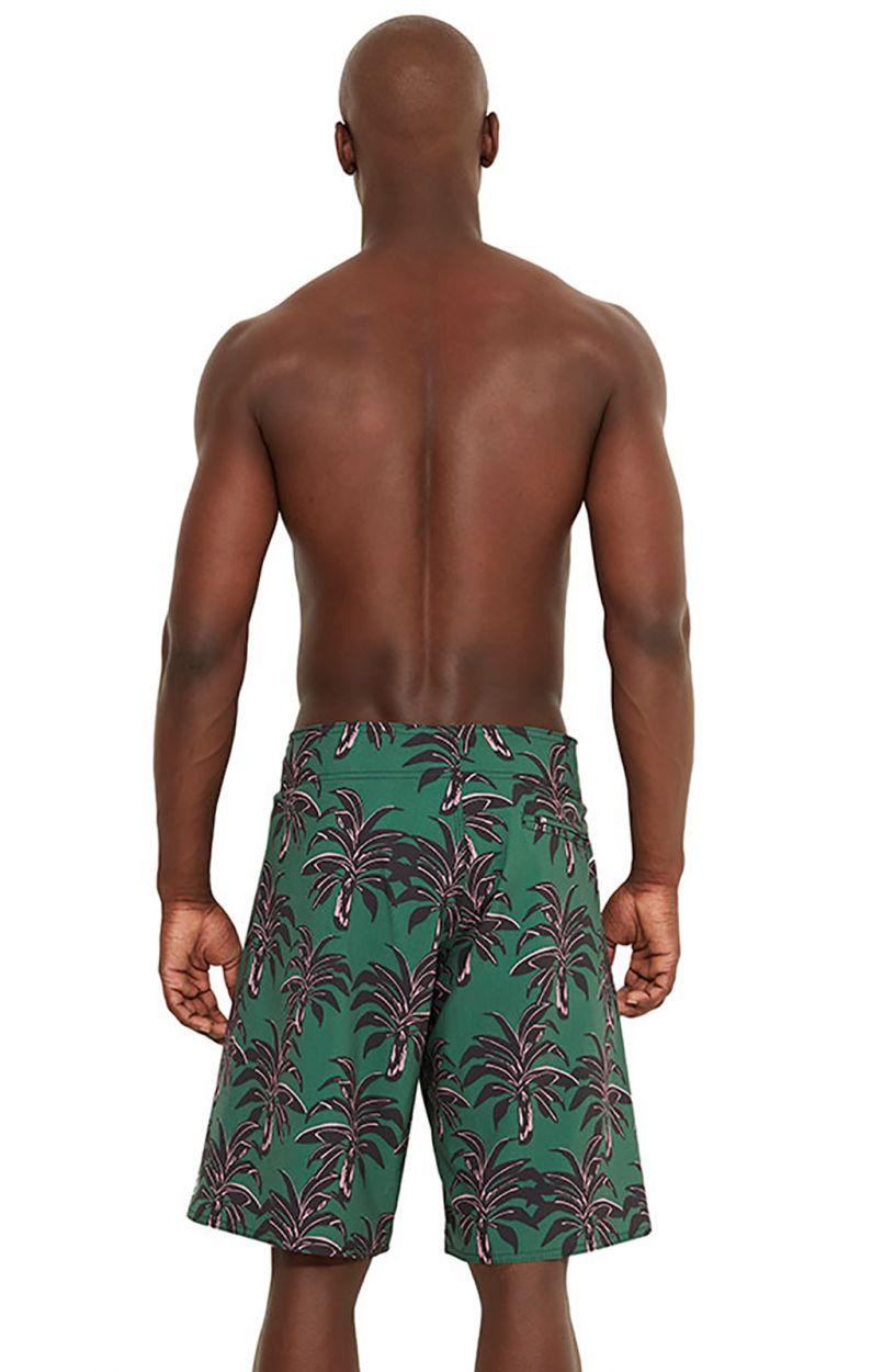 Green boardshorts - palm trees print - MAXI COQUI