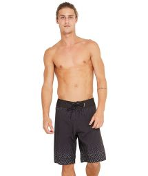 Black boardshorts with a subtle print - MAXI HIPNOS