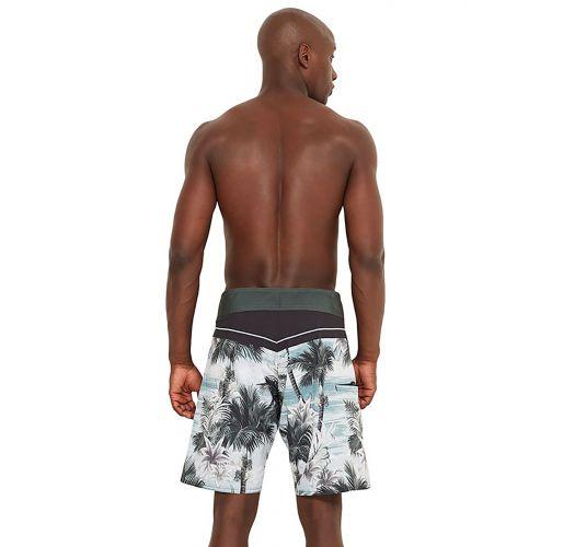 Boardshorts mit tropischem Print - MID ISLA