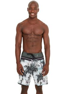 Tropical print boardshorts - MID ISLA