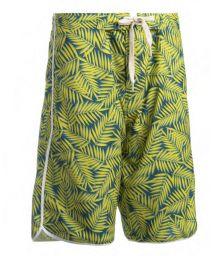 Long swim shorts - yellow foliage - BERMUDA SURF AMARELO
