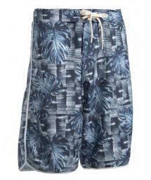 Long swim shorts - graphic print - BERMUDA SURF GRAFICA