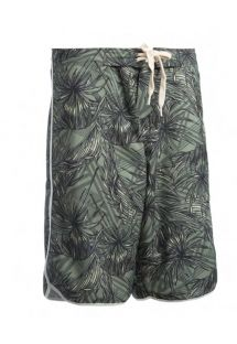 Long swim shorts - tropical khaki - BERMUDA SURF KAKI TROPIC