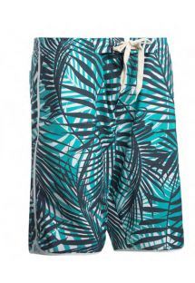 Long swim shorts - tropical blue - BERMUDA SURF PISCINA TROPIC