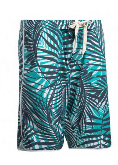 Long swim shorts - tropical blue - BERMUDA SURF PISCINA TROPIC