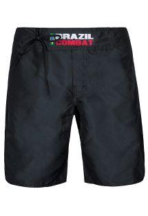 Черные шорты��Brazil Combat�, присборенные и на кулисе - BRAZIL COMBAT