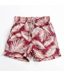 Red/blue reversible palm tree swimming shorts - BOMMIE