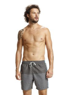 Grey striped boardshorts - GREY LISTROS