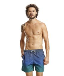 Blue and green gradient boardshorts - TROPICAL MIX