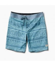 Swimming shorts - ethnic blue print - BOARDSHORT TRIBE LIGHT BLUE